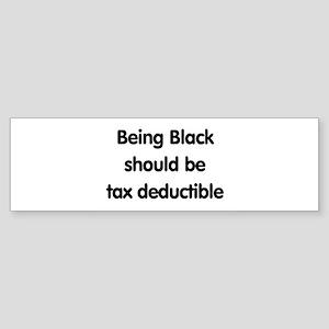 Black, tax deductible Sticker (Bumper)