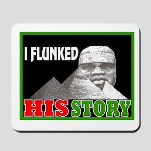 Black history dropout Mousepad