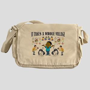Childrearing Black children Messenger Bag