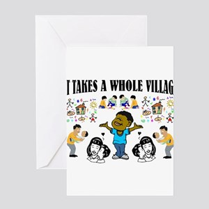 Afrocentric greeting cards cafepress childrearing black children greeting card m4hsunfo