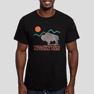 Yellowstone National P Men's Fitted T-Shirt (dark)