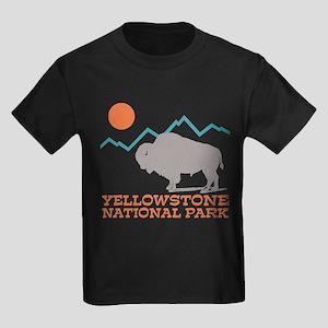 Yellowstone National Park Kids Dark T-Shirt