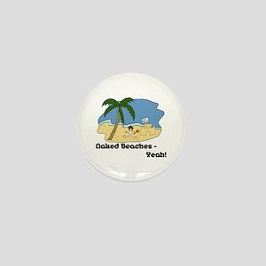 Naked Beaches - Yeah! Mini Button