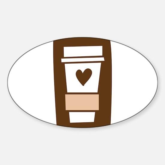 Latte Love Sticker (Oval)
