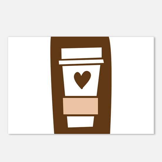 Latte Love Postcards (Package of 8)