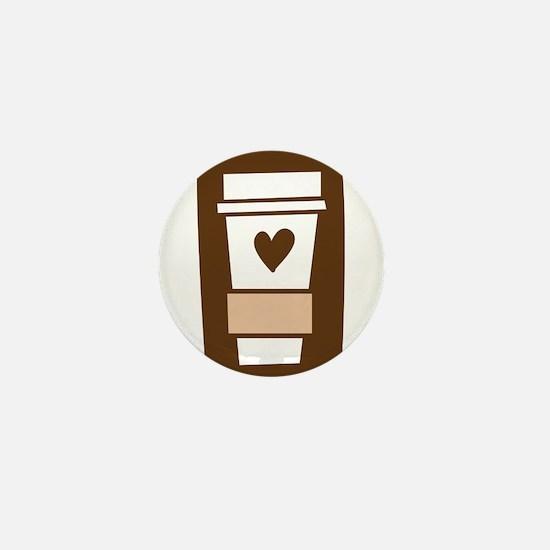 Latte Love Mini Button
