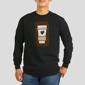 Latte Love Long Sleeve Dark T-Shirt