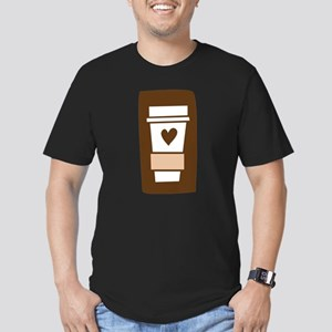 Latte Love Men's Fitted T-Shirt (dark)