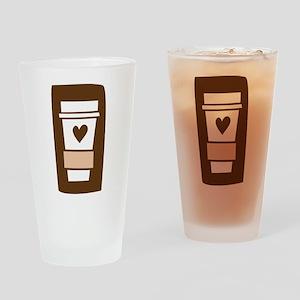 Latte Love Drinking Glass