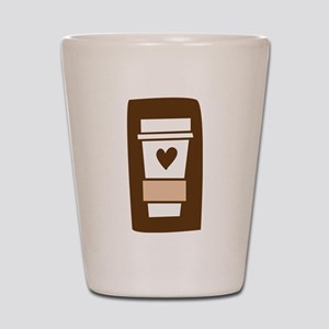 Latte Love Shot Glass