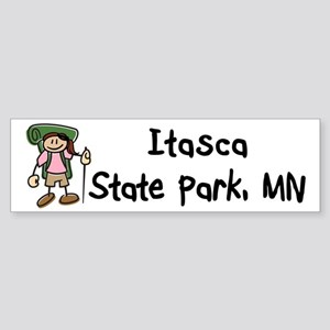 Hike Itasca (Girl) Sticker (Bumper)