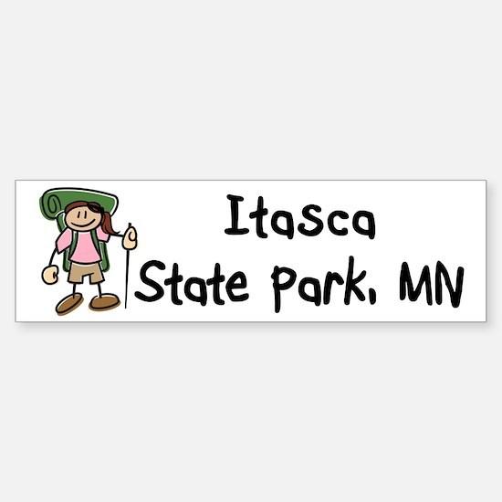 Hike Itasca (Girl) Sticker (Bumper)