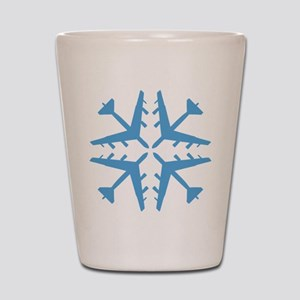 B-52 Aviation Snowflake Shot Glass
