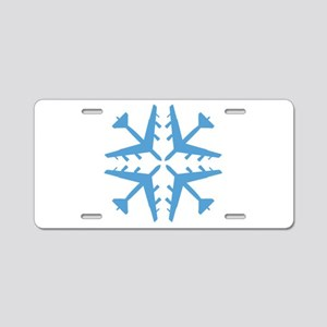 B-52 Aviation Snowflake Aluminum License Plate