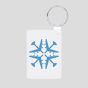 B-52 Aviation Snowflake Aluminum Photo Keychain