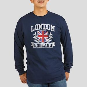 London England Long Sleeve Dark T-Shirt