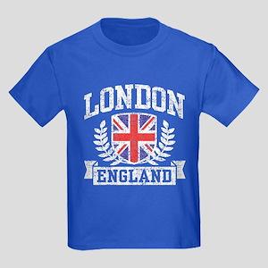 London England Kids Dark T-Shirt