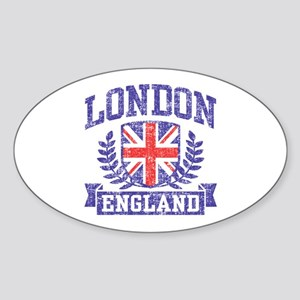London England Sticker (Oval)