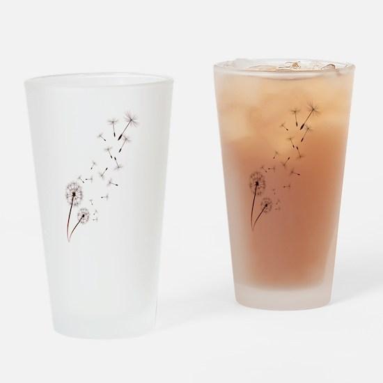 Dandelions Drinking Glass