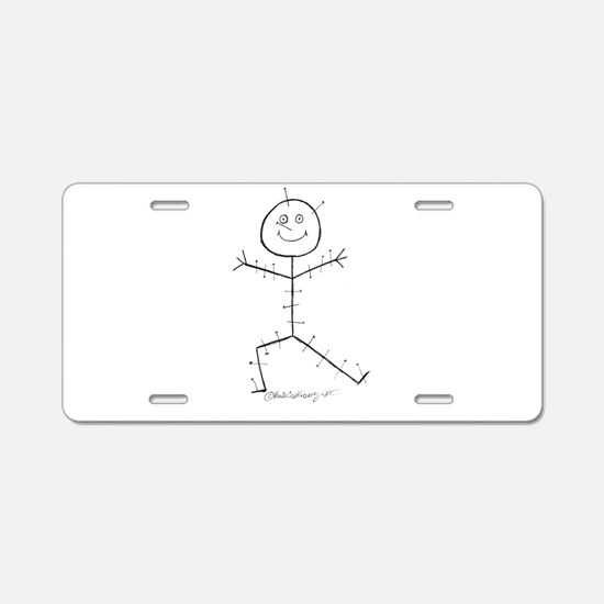 Acupuncture Sticky Aluminum License Plate