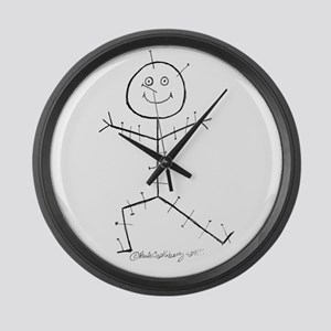 Acupuncture Sticky Large Wall Clock