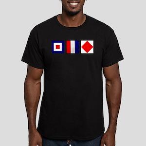 WTF Nautical Signal Flags Men's Fitted T-Shirt (da
