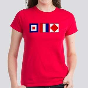 WTF Nautical Signal Flags Women's Dark T-Shirt