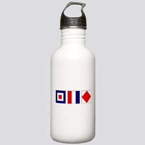 WTF Nautical Signal Flags Stainless Water Bottle 1