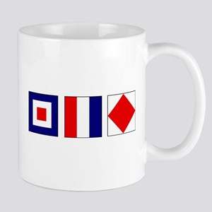 WTF Nautical Signal Flags Mug