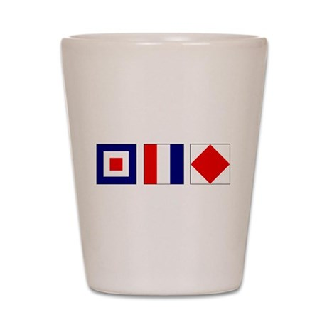 WTF Nautical Signal Flags Shot Glass