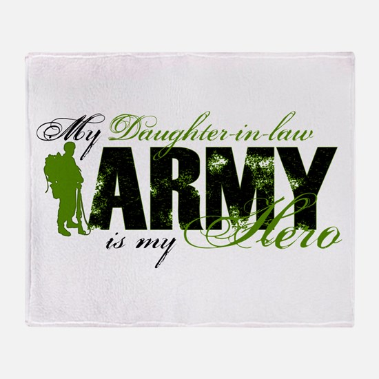 Daughter-in-law Hero3 - ARMY Throw Blanket
