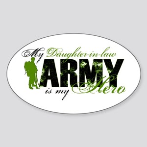 Daughter-in-law Hero3 - ARMY Sticker (Oval)