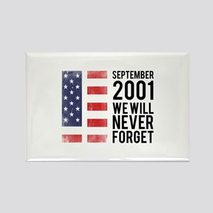 9 11 Remembering Rectangle Magnet