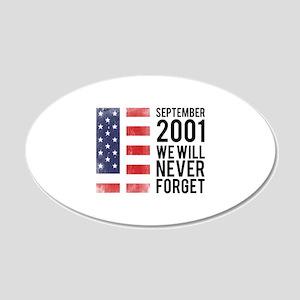 9 11 Remembering 22x14 Oval Wall Peel
