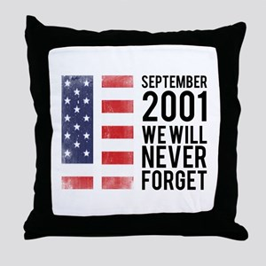 9 11 Remembering Throw Pillow