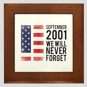 9 11 Remembering Framed Tile