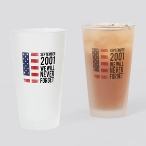 9 11 Remembering Drinking Glass
