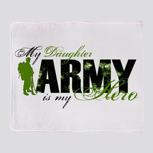 Daughter Hero3 - ARMY Throw Blanket