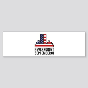 9 11 Never Forget Sticker (Bumper)