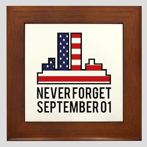 9 11 Never Forget Framed Tile