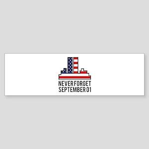 9 11 Never Forget Sticker (Bumper)