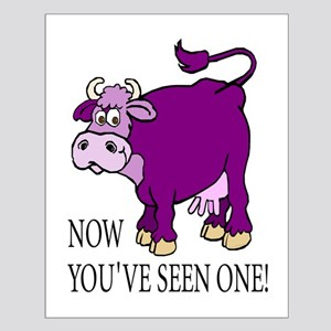 Purple Cow Small Poster