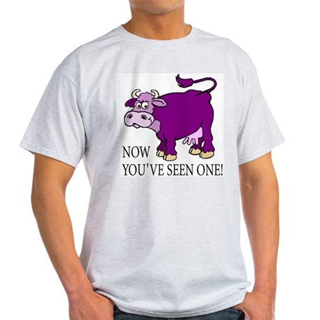 Purple Cow Ash Grey T-Shirt