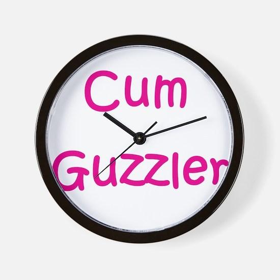 Cum guzzler Wall Clock