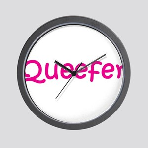 Queefer Wall Clock