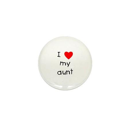 I love my aunt Mini Button (10 pack)