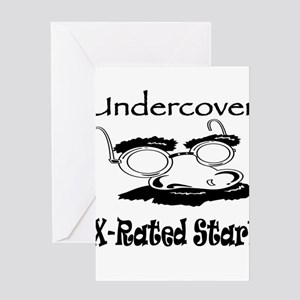 X rated greeting cards cafepress undercover x rated star greeting card m4hsunfo Images