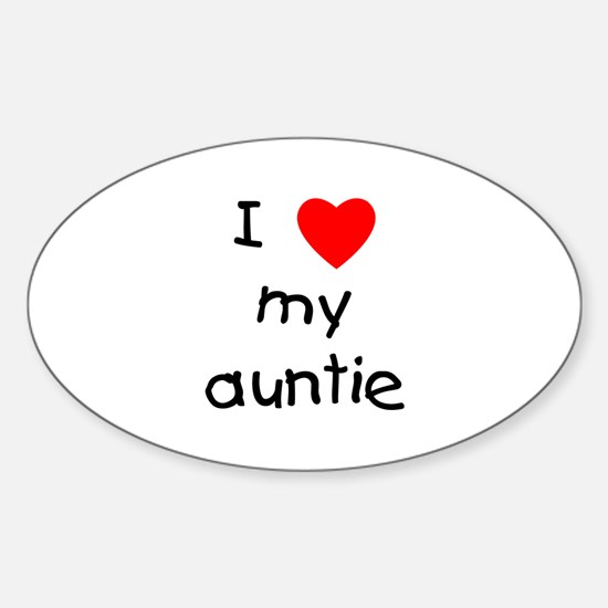 I love my auntie Sticker (Oval)