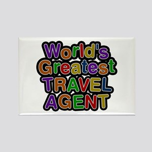World's Greatest TRAVEL AGENT Rectangle Magnet