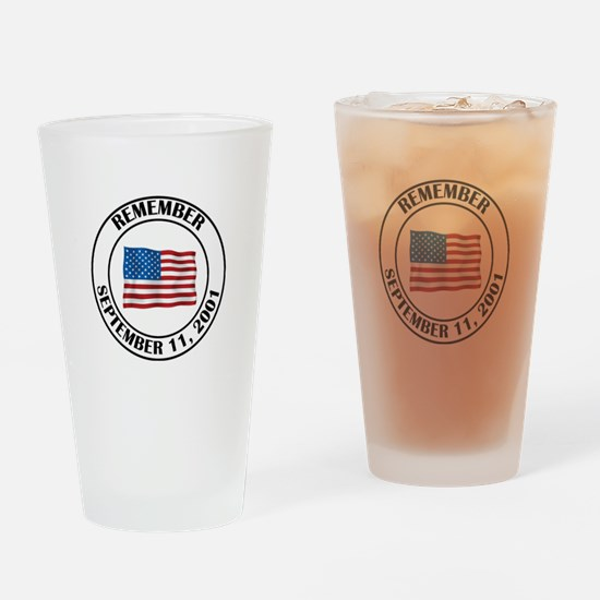9 11 Drinking Glass